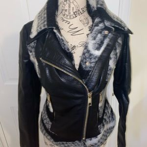 Guess Faux leather two toned jacket